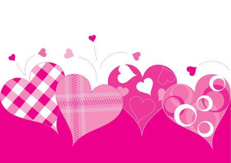 adore: Valentine hearts Illustration