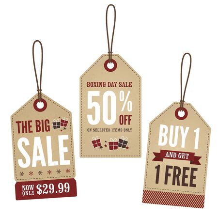 boxing day sale: Vintage Retail Tags