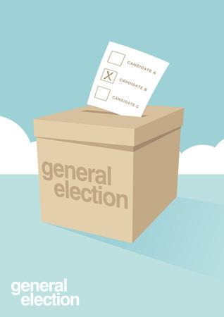 選挙の投票箱  イラスト・ベクター素材