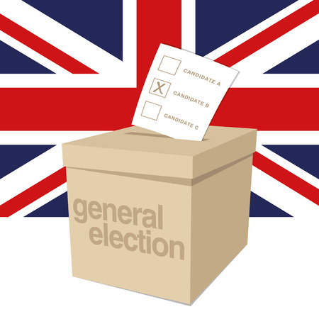voter: Ballot Box for a UK General Election