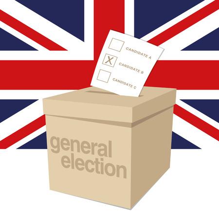 voting ballot: Urna para las elecciones generales del Reino Unido Vectores