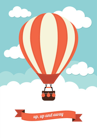 air travel: Hot Air Balloon Vector Graphic