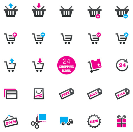 24: 24 Shopping Icons
