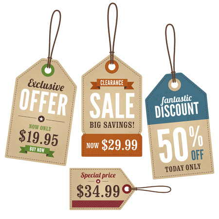 prices: Vintage Retail Swing Tags