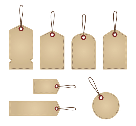 sale tags: Blank Vintage Retail Labels