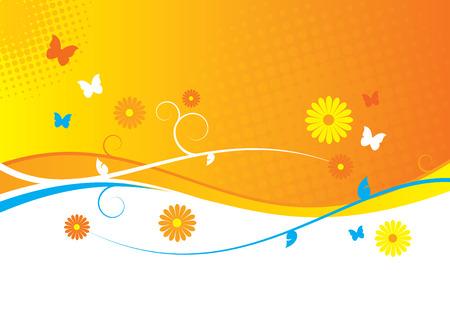 flora  vector: Summertime Illustration