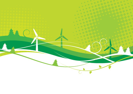 energy efficient: Environmental Background Illustration