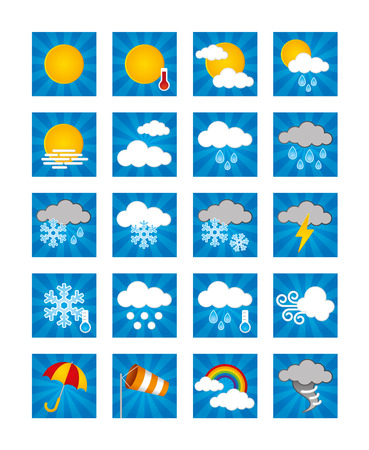 breezy: Stock Vector Illustration: Weather Icons - Day