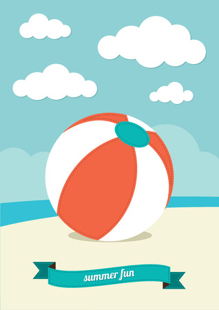 Beach Ball on Sand