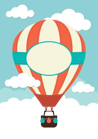 뜨거운 공기 풍선과 구름 스톡 콘텐츠 - 37266738