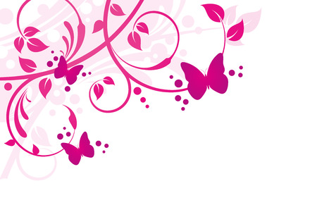 Floral Background 일러스트
