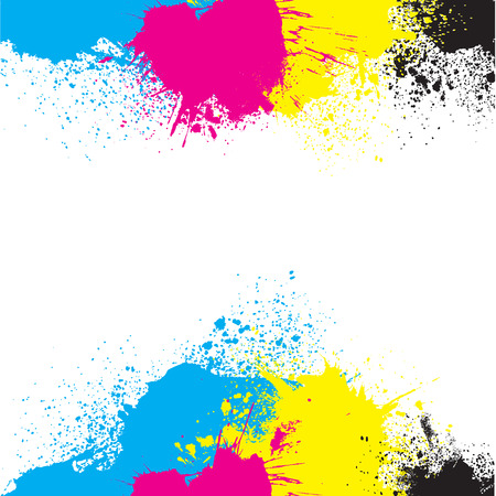 CMYK Paint Splatters