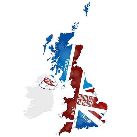 wales: Map of the United Kingdom Illustration