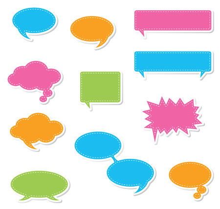 A collection of speech bubbles