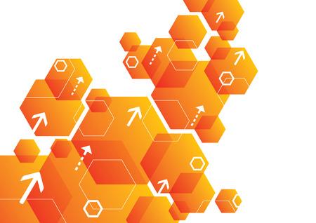 Abstract Hexagonal Background Design  イラスト・ベクター素材