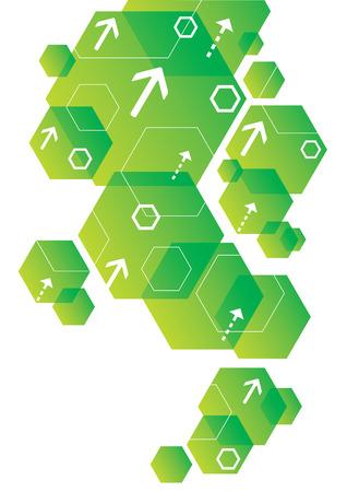 六角形の抽象的な背景デザイン