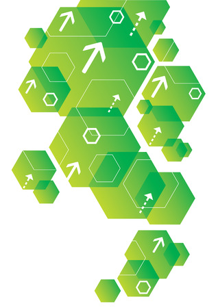 Abstract Hexagonal Background Design Ilustração