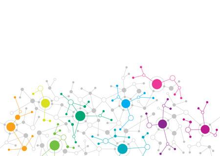 Streszczenie projektu sieci Ilustracje wektorowe