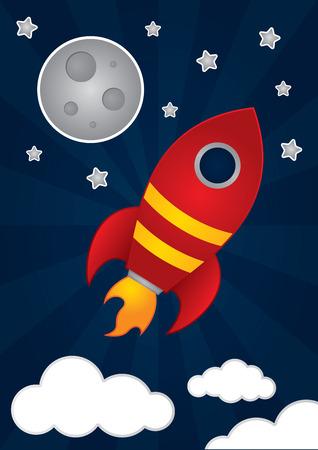cartoon transportation: Space Rocket