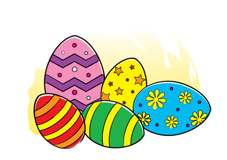 occassion: Illustration of Easter Eggs