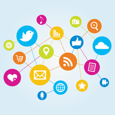 Social Network  イラスト・ベクター素材