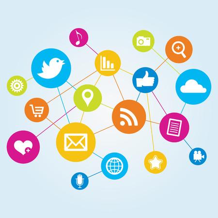 Social Network Ilustrace