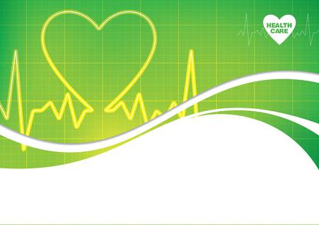 salud: Cuidado de la Salud Resumen de diseño Vectores