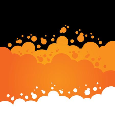 오렌지 거품 배경
