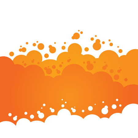 hot background: Orange Bubbly Background