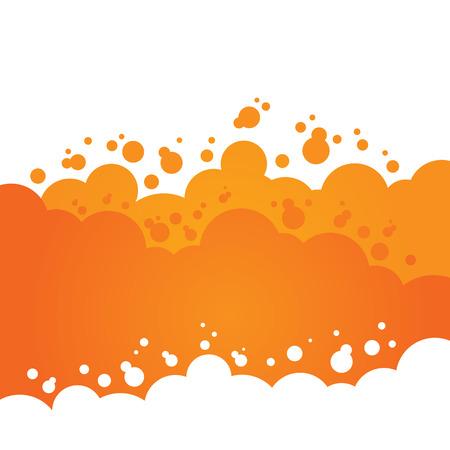 Oranje Bubbly Achtergrond