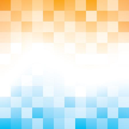 블루와 오렌지 추상적 인 배경