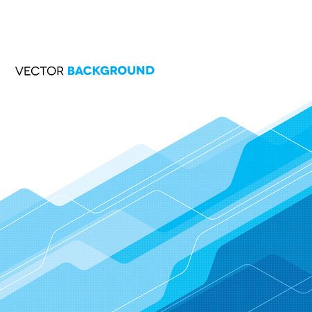 white abstract: Blu geometrico astratto sfondo Vettoriali