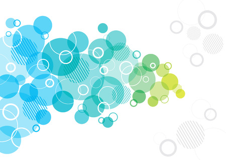 Abstract Design with circles Stock Illustratie