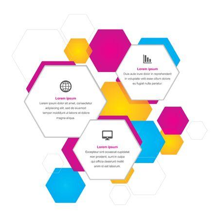 Hexagonal Business Background Illustration