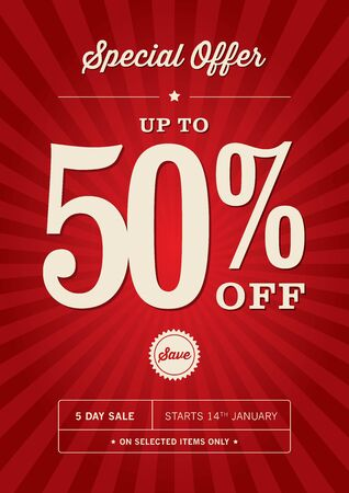 50 off: Retail 50% Off Sale Poster