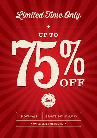 retail sales: Retail 75% Off Sale Poster