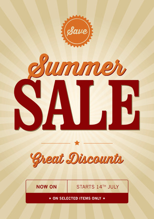 discounted: Vintage Summer Sale Poster