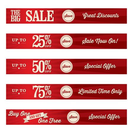 discounted: red sale banner