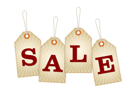 Summer Themed Sale Retail Labels