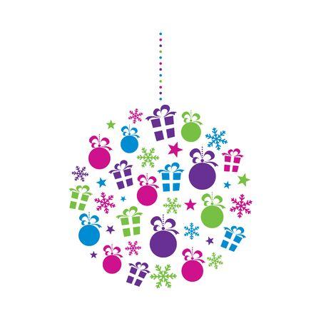 christmas tree purple: Abstract Christmas Bauble
