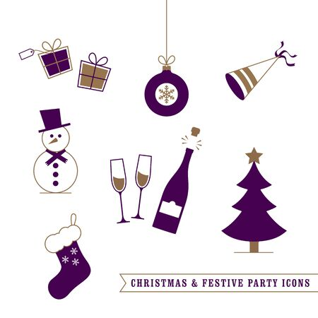 festive: Christmas and Festive Icons