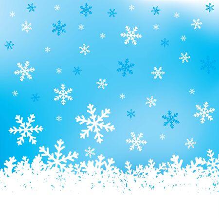 雪の結晶の背景  イラスト・ベクター素材