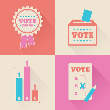 voting paper: A set of voting graphics for an election