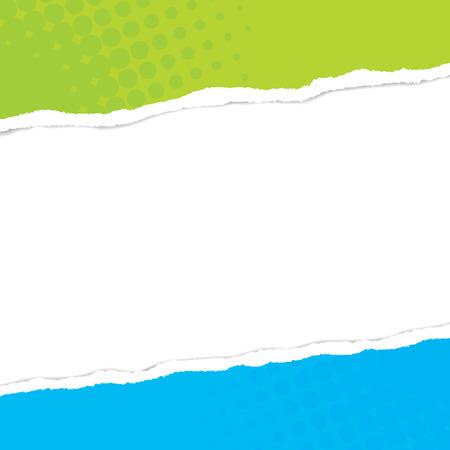 Conception de papier ripper avec espace pour le texte Vecteurs