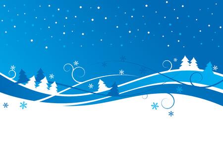 冬の風景  イラスト・ベクター素材