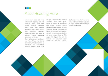 Abstract Brochure Design with Squares Ilustracja