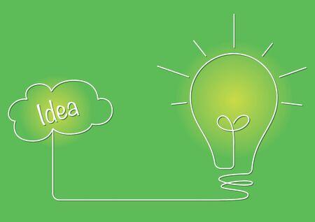 illustrating: A drawing of a lightbulb illustrating an idea Illustration