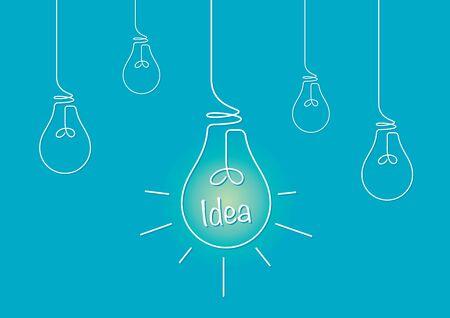アイデアを表す電球の図面