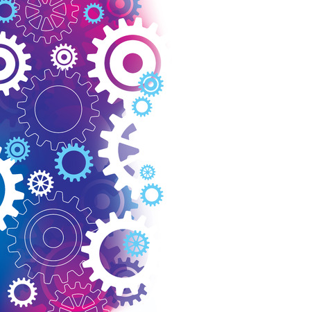 fade: A purple  blue abstract background with cogs