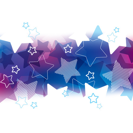 themed: A purple and blue star themed background design Illustration